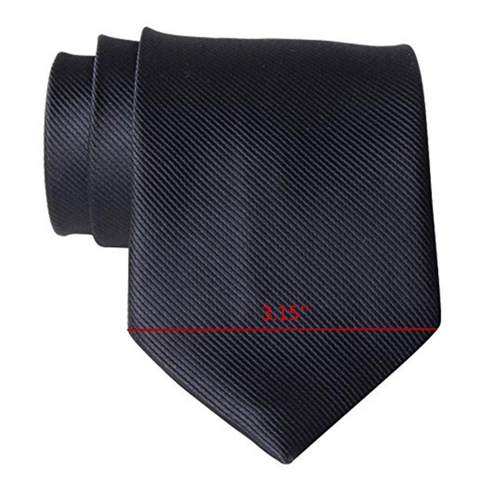 QBSM Cravate Homme De Couleur Solide faite /à la main 8cm Largeur