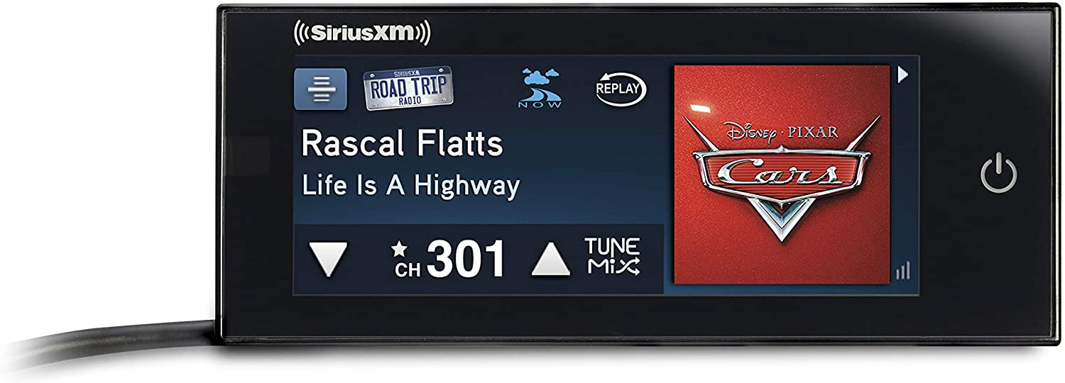 Touchscreen Dash-Mounted Radio with Free 3 Months Satellite and Streaming Service SiriusXM Commander Touch Full-Color