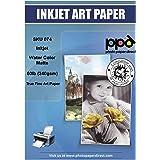 "PPD Inkjet Watercolor Matte Giclee Fine Art Archival Printer Paper 8.5x11"" 64lb 240gsm x 25 Sheets (PPD074-25)"
