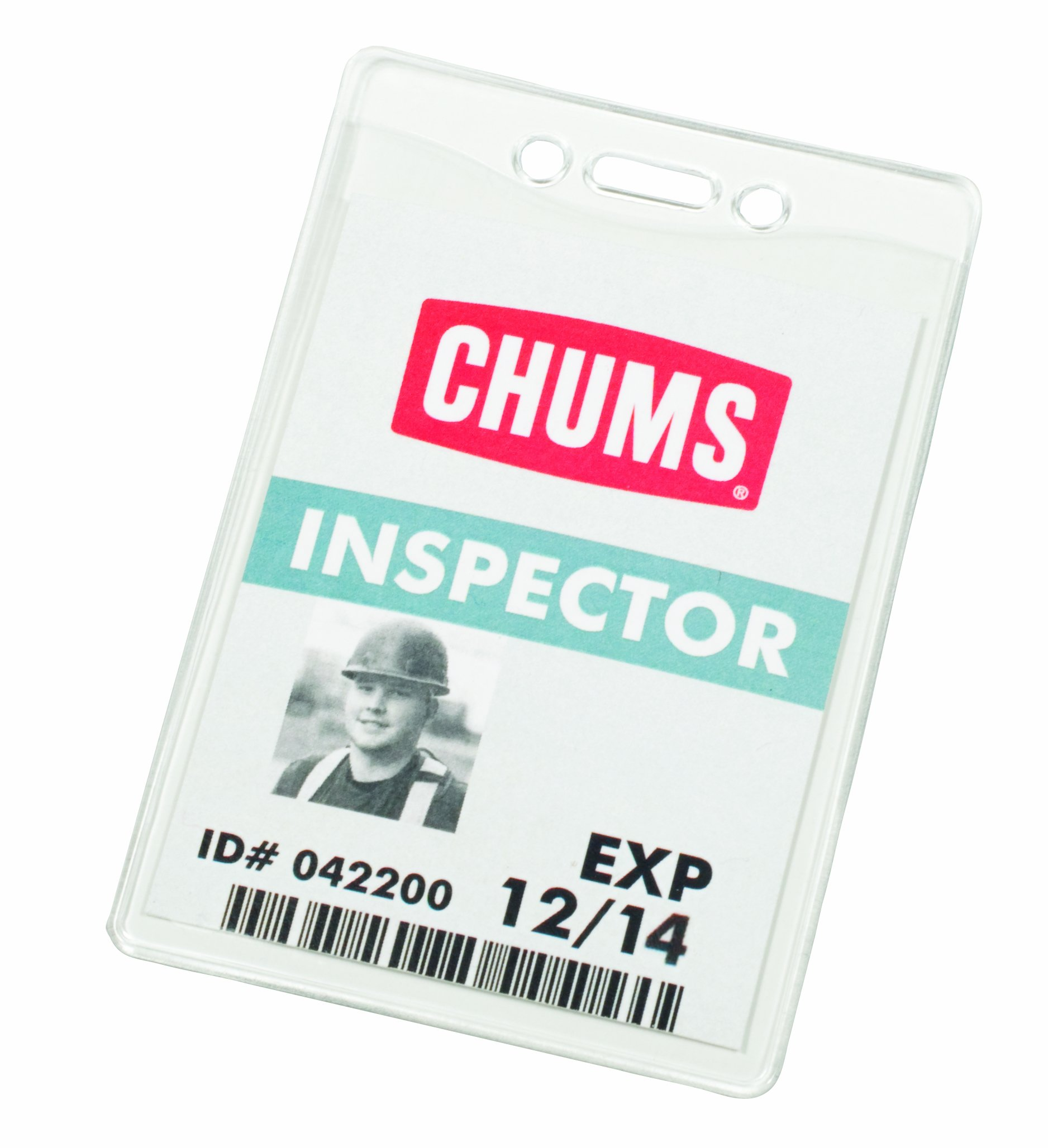 Chums Safety 30032 Heavy Duty Vinyl Sleeve, 2-3/4'' Width x 4'' Height, For Vertically Oriented Security Passes and Ids (Pack of 10) by Chums