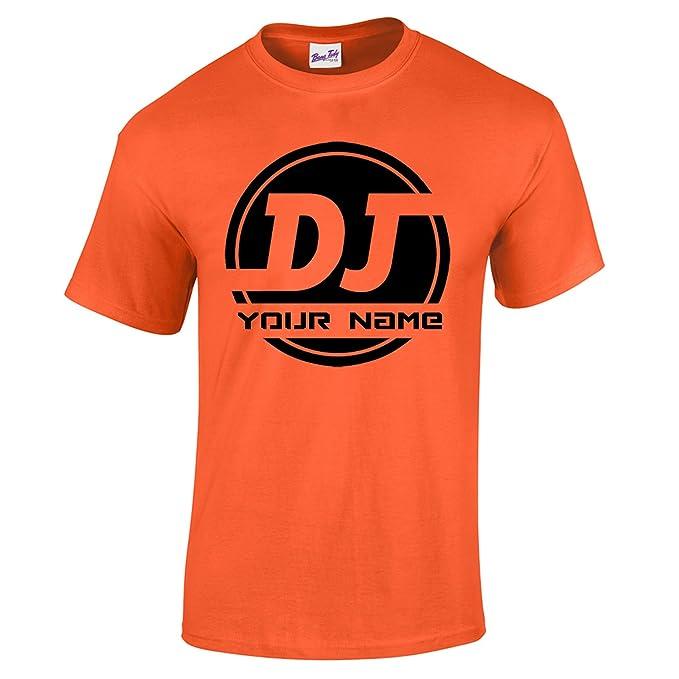 Bang Tidy Clothing Camiseta de Hombre Personalizada con Logo de DJ AÑADE TU Nombre: Amazon.es: Ropa y accesorios
