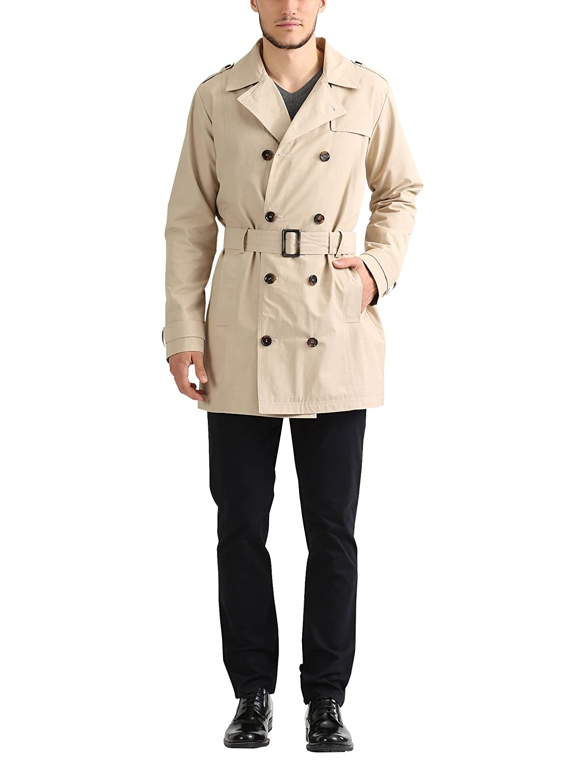 James Tyler Trench Coat con Cintura Uomo JT71