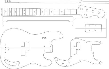 Amazon.com: Electric Guitar Routing Template - P Bass: Musical ...