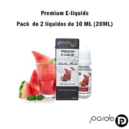 2 x 10ML Paide Premium E-Liquid - Sin nicotina - Líquido para cigarrillo electrónico