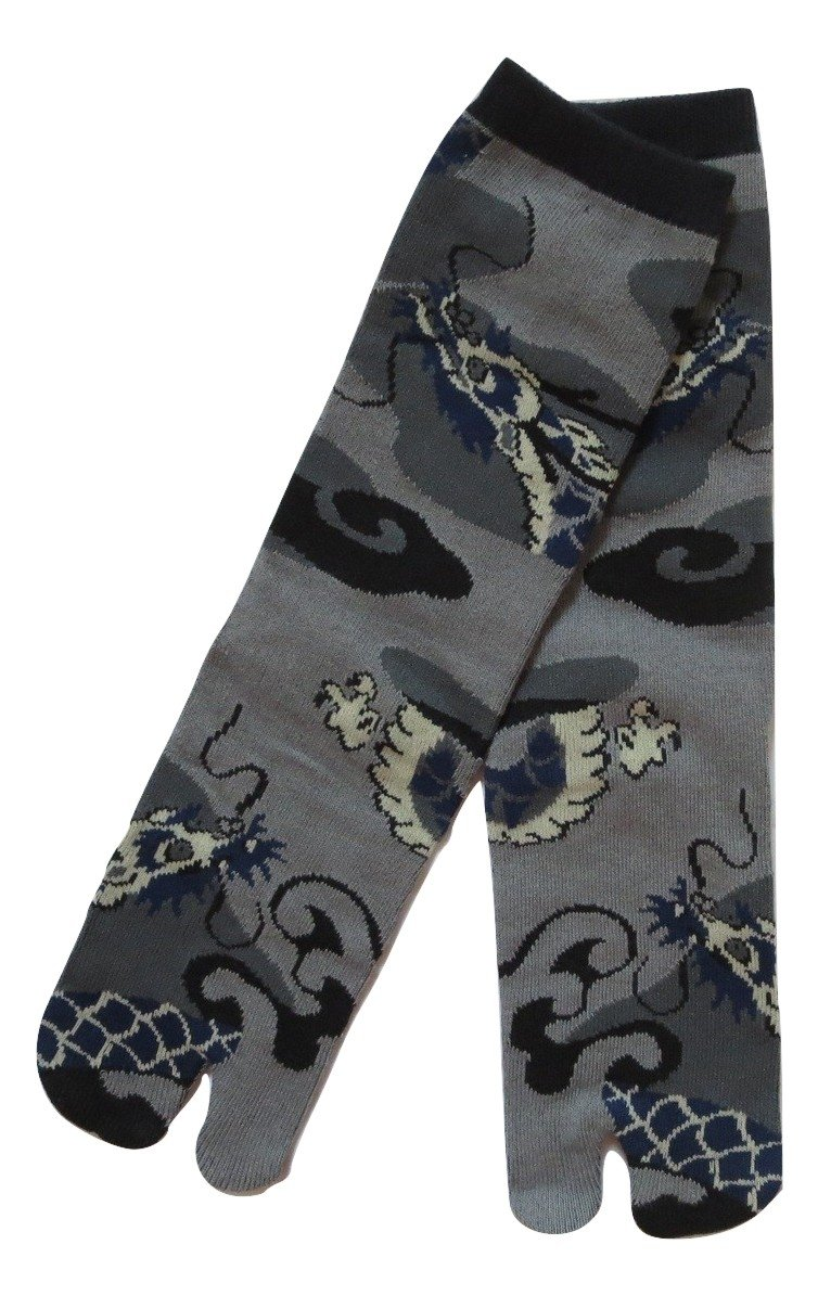 Dragon Men 6 Inch Cuff Tabi Socks Kurochiku