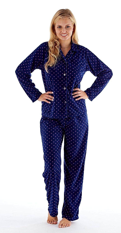 0be046f3b Ladies Fleece Pyjamas Set Micro Fleece 140GSM Warm and Comfy  Amazon ...