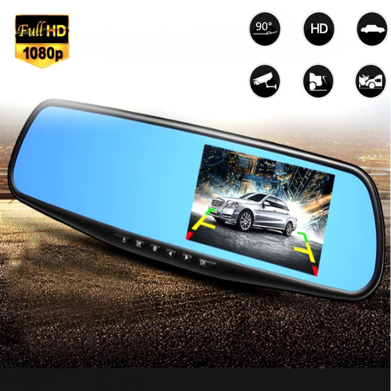 Jasnyfall 1080 P Full HD R/étroviseur Nuit Vision Voiture DVR Dash Cam 90 Degr/és Vue Ange Voiture Enregistreur Vid/éo Automobile Accessoires