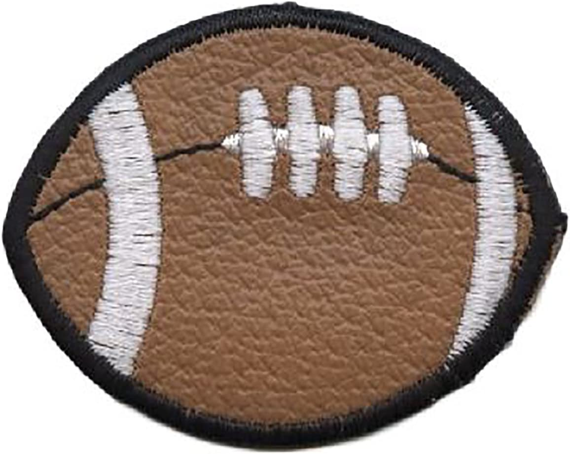 Football Sports Games Pigskin Iron On Embroidered Patch 3 1//2/""