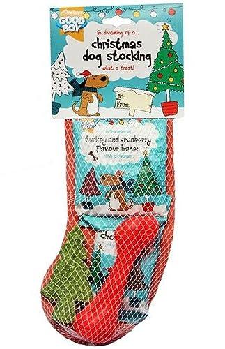 Good Boy Christmas Dog Stocking