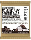 Papa Steve's No Junk Raw Protein Bars, Dark Chocolate Coconut, 2.3 Oz, 10 Count