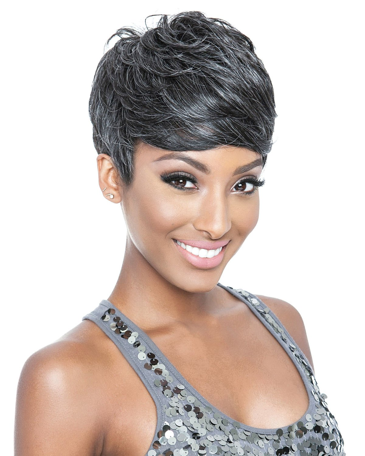 Short Wigs for Black Women Gray Wigs for