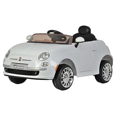 Best Ride On Cars Fiat 500 12V- White: Toys & Games
