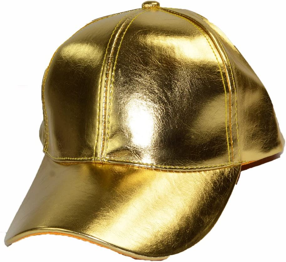 KGM Accessories Cool Brillante Dorado Gorra de béisbol: Amazon.es ...