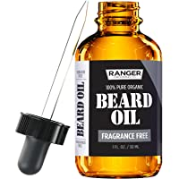 Fragrance Free Beard Oil & Leave In Conditioner, 100% Pure Natural for Groomed Beards...