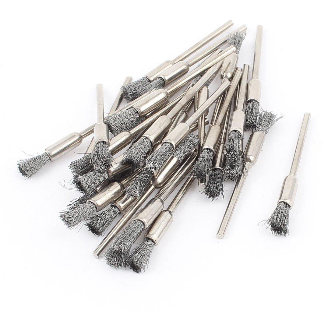 0, 16 cm mandril gris cable bolí grafo cepillo para pulir 30 piezas para Dremel 16 cm mandril gris cable bolígrafo cepillo para pulir 30 piezas para Dremel Sourcingmap a14110600ux0700