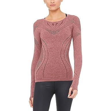 3b6e1c95e58bd2 Image Unavailable. Image not available for. Color  Alo Yoga Lark  Long-Sleeve Shirt - Women s ...