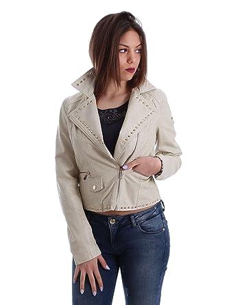65e87d12b56a Gaudi jeans 73BD32201 Jacket Women Beige 44  Amazon.co.uk  Clothing
