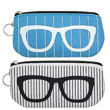 Amazon.com: Paquete de 2 portátil anteojos de sol bolsa de ...