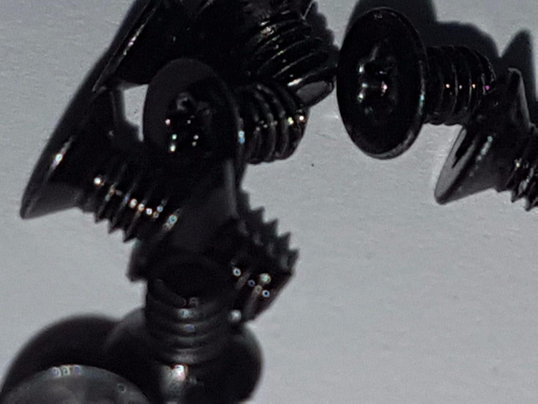 12/x T5/Torx Machine Vis M2/X 3/MM Petite Noir Vis /à t/ête frais/ée T/ête de Fixation pour Ordinateur Portable
