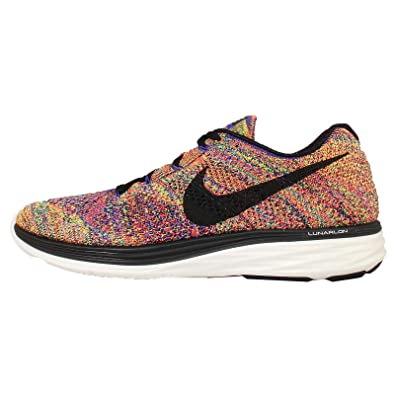 premium selection b9289 31fd0 Nike Flyknit Lunar3 698181-408 Racer Blue/Crimson/Volt/Black Men's Running  Shoes