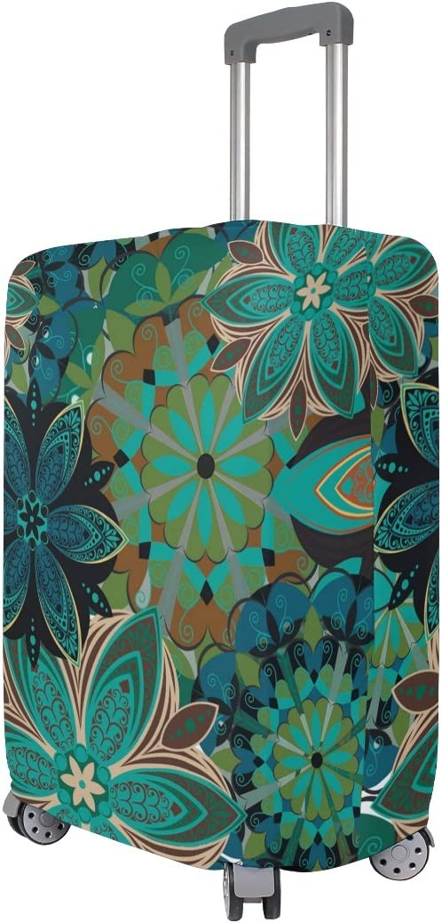OREZI 3D Flower Pattern Luggage Protector Suitcase Cover 18-32 Inch