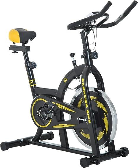 HOMCOM Bicicleta Estática de Spinning Fitness con Resistencia ...