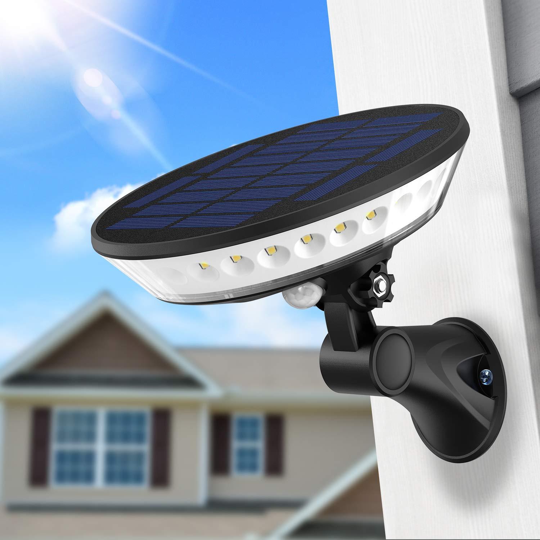SYIHLON New Solar Lights Outdoor,3 Modes Wireless Solar Motion Sensor Light with 360° Illumination,80° Rotating Light Head IP65 Waterproof Solar Wall Light for Garden Driveway Garage Gate Yard Deck by SYIHLON
