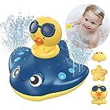 LORDSON Baby Bath Toys, Automatic Spray Water Bathtub Pool Bathroom Toy with 3 Cartoon Spray Head for Toddlers Kids Boys Girl