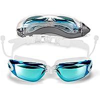 2017nuevo estilo anteojos de natación con tapones para los oídos anti-vaho sin fugas. Protección UV anteojos de natación última intervensión Natación y protección caso de almacenamiento