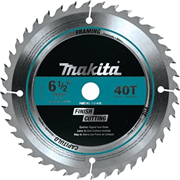 Makita T 01410 40t Fine Crosscutting Carbide Tipped Saw Blade 6 1 2 Amazon Com