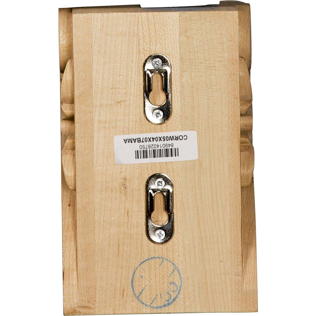 Ekena Millwork CORW05X04X07BAMA-CASE-2 Corbel Factory Primed