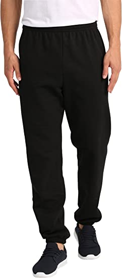 Lower East Pantalones de chándal para hombre, Negro, S: Amazon ...