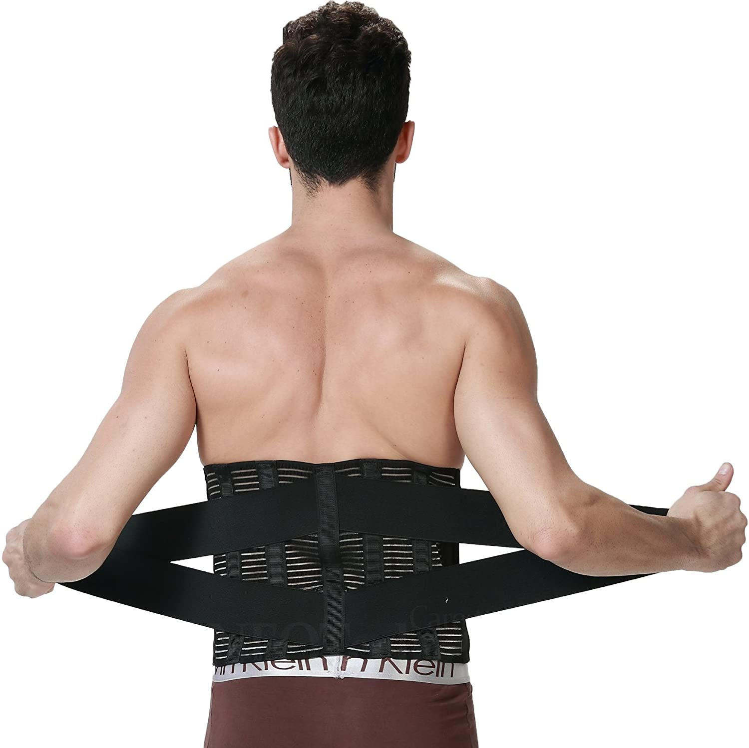 Lumbar Support Belt Lifting Size S Black Pain Relief Adjustable Compression /& Breathable for Gym Wide Protection Work Posture Neotech Care Back Brace