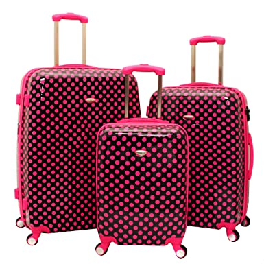 Amazon.com: American Green Travel Polka Dot 3-Piece Expandable ...