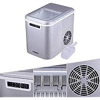 Arebos Ijsblokjesmachine | 2,2L Icemaker | Ijsmachine 12KG in 24 uur | 2 ijsblokjesmaten | LED-scherm | BPA-vrije…