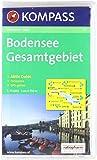 Bodensee Gesamtgebiet: Wander- und Bikekarte mit Panorama. GPS-genau. 1:75.000