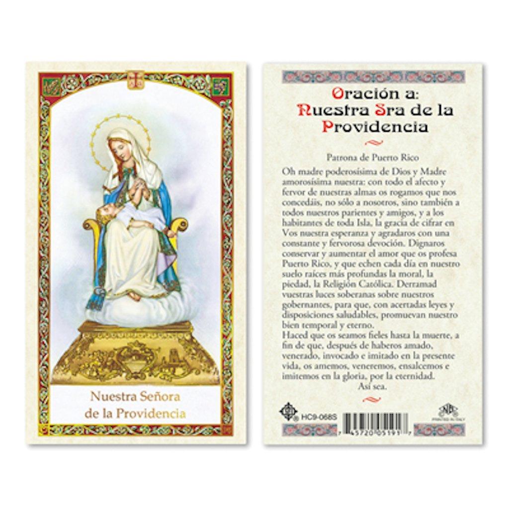 SPANISH Our LADY OF DIVINE PROVIDENCE ラミネート加工 祈りカード - 25枚パック   B072TYHF9Y