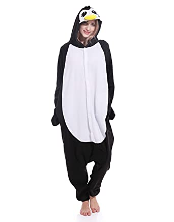 56a2174ac Image Unavailable. Image not available for. Color  Adult Penguin Pajamas ...