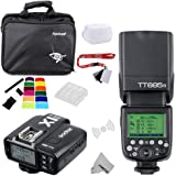 fomito Godox tt685N I-TTL II 2.4GHz Wireless Master/Externe Kamera autoflash Speedlight & x1-n Transmitter Trigger HSS für Nikon D810D800E D7200D60D5500DSLR-Kameras, SB900SB910Blitze