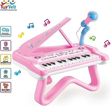 Amazon.com: ToyVelt - Piano de juguete para niñas pequeñas ...