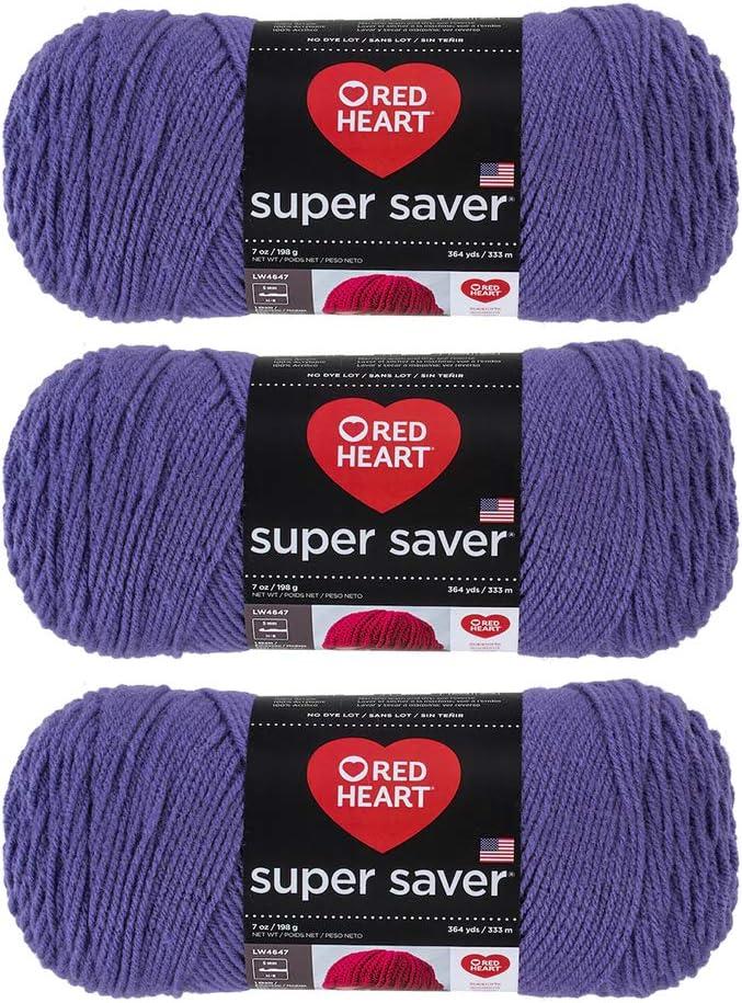 3-Pack Bulk Buy Red Heart Super Saver Yarn Lemon E300-235