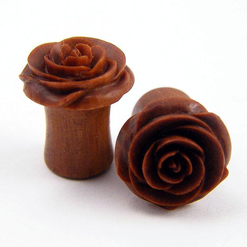 Red and yellow rose leaf plug teardrops Botanical gauges Nature inspired plug earrings Natural rose petals plugs Rose leaf gauges Women plug