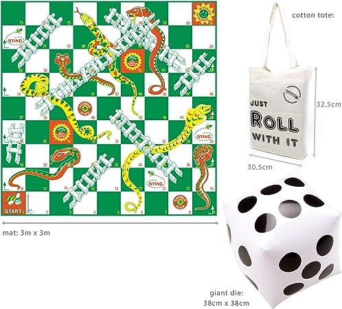 Garden Games - Juego de serpientes y Escaleras: Giant Snakes and Ladders: Amazon.es: Juguetes y juegos