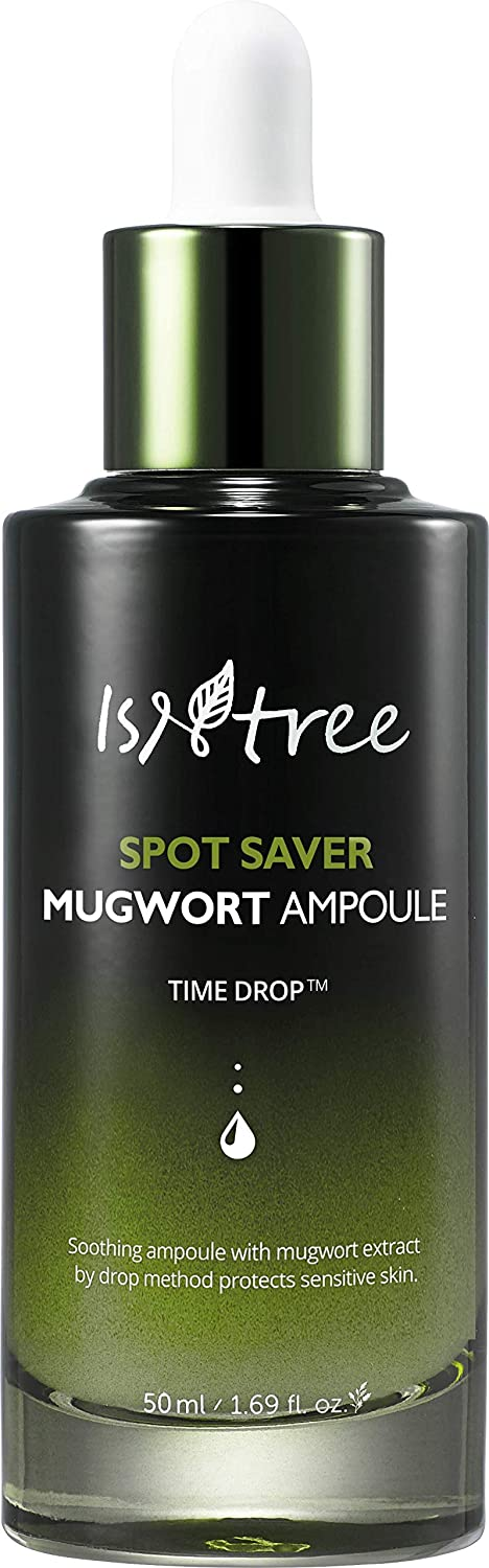 ISNTREE Spot Saver Mugwort Ampoule 1.69 fl.oz. | Skin Soothing, Moisturizing & Protecting with Mugwort Extracts | Korean Skin Care K-beauty | Serum Moisturizer Ample for Dry, Sensitive Acne Aging Skin