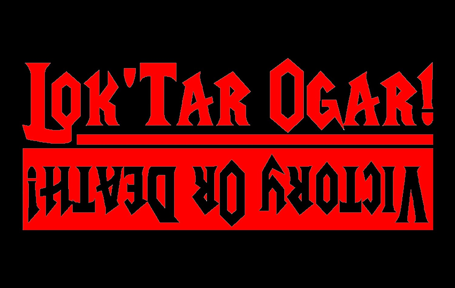 Lok Tar Ogar Decal Victory Or Death Sticker For The Horde Bumper Sticker Wow Decal H 4 5 By L 12 Inches Red Amazon In Car Motorbike Lok'tar ogar is an 'orcish' warcry meaning victory or death. lok tar ogar decal victory or death sticker for the horde bumper sticker wow decal h 4 5 by l 12 inches red