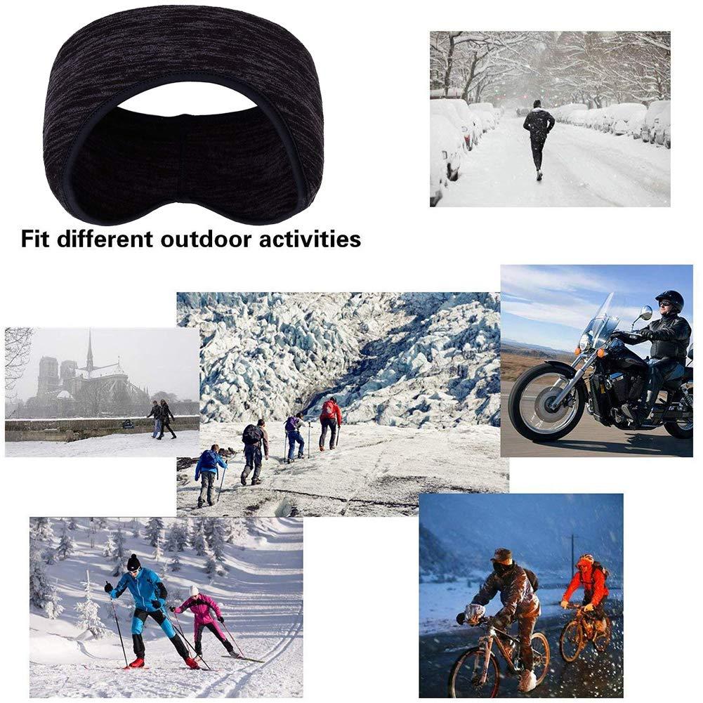 BESTZY 2PCS Winter Ear Warmers Headband Power Running Headband Women/'s Ponytail Moisture Wicking Ear Band Thermal Ear Muffs Ski Sports Headwear