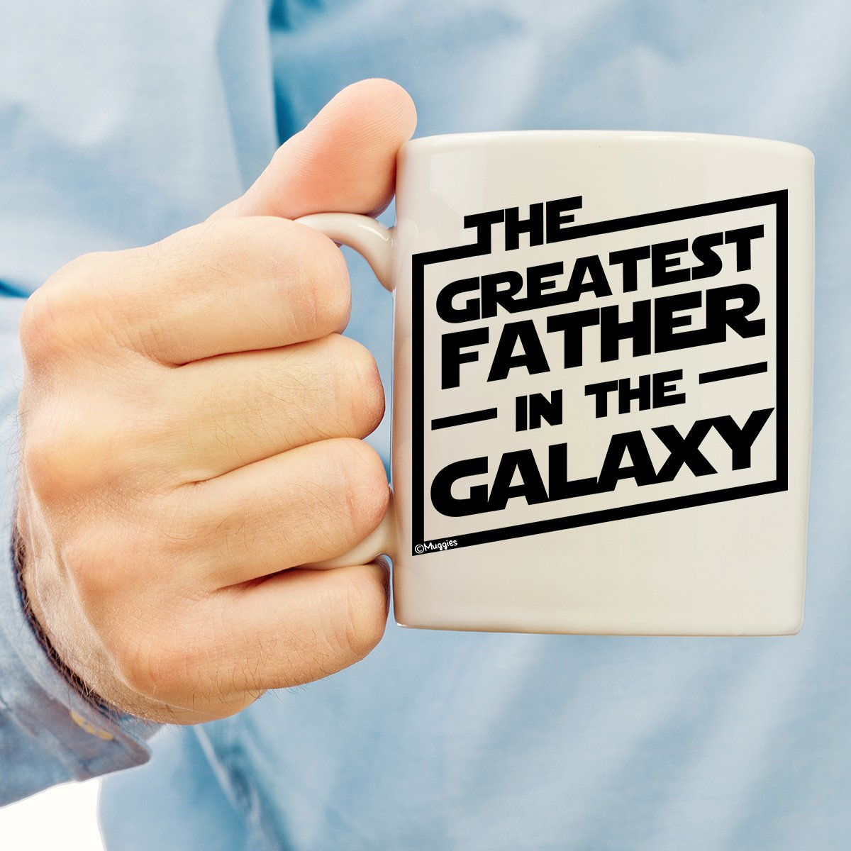 Muggies Greatest Father in The Galaxy 11oz. Coffee Tea Mug. Unique Funny Christmas, Xmas, Birthday, for Him - Super Star Men, Dad, Husband by GENUTRI (Image #4)