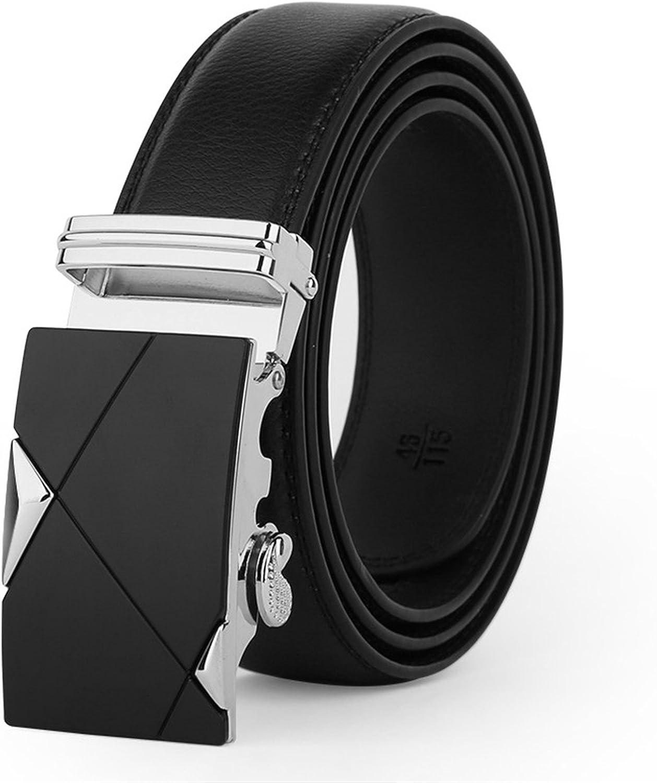 Susan1999 Leather Automatic Buckle Belts For Men Belts Fashion Designer Jean Belt