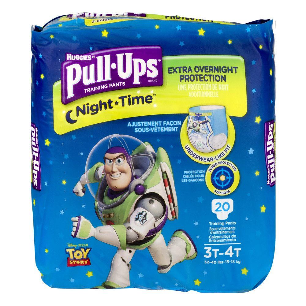 20 Count Huggies Pull-Ups Nighttime Training Pants for Boys