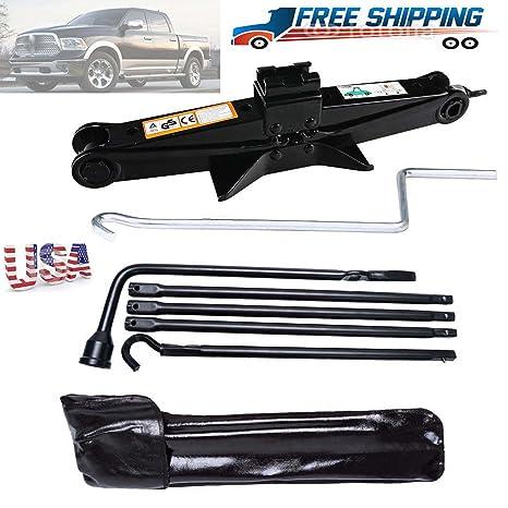 Para Dodge Ram 1500 poste de rueda de repuesto Llave Herramientas de reparación Kit & gato
